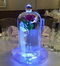 Our Beauty & the Beast inspired Red Rose Dome, perfectly made in ice, a wonderful compliment for a Disney themed wedding Más Quinceanera Planning, Quinceanera Decorations, Quinceanera Party, Quinceanera Dresses, Beauty And The Beast Wedding Theme, Wedding Beauty, Dream Wedding, Quince Themes, Quince Decorations