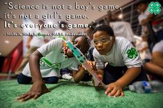 Science is for ALL!  What do you love most about #STEM?  #4HNYSD