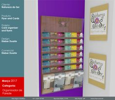 Organizador de cartões e folhetos. #haz #hazsign #grafica #graficarapida #organizador #impressao #mdf #adesivo #projeto #design