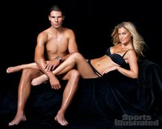 Rafael Nadal and Bar Refaeli for Swimsuit 2012.