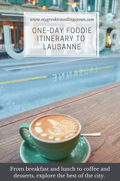 Get your one-day foodie itinerary to Lausanne and explore the best that the city has to offer: from breakfast, lunch and dinner to open markets and specialty coffee coupled with delicious desserts. Join the email list for your free copy! Open Market, Lausanne, Email List, Lunches And Dinners, Delicious Desserts, The Best, Latte, Join, Good Things