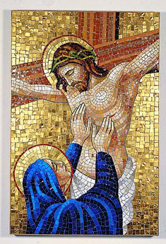 Artwork of Jesus Christ Our Savior Pictures Of Jesus Christ, Religious Pictures, Religious Icons, Religious Art, Christian Images, Christian Art, Mosaic Portrait, Cross Art, Mary And Jesus