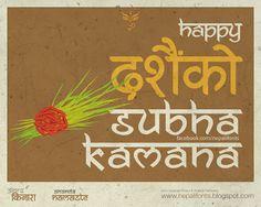 #happy #dashain mixing ananda #Kinara and anadna #namaste fonts #devanagari #nepali