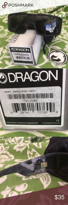 NWT Dragon Orbit snow camp grey sunglasses NWT Dragon Orbit snow camp grey sunglasses fast shipper 🕶😀😎❤️👍🏼💕👀👓🦊 DRAGON Accessories Sunglasses