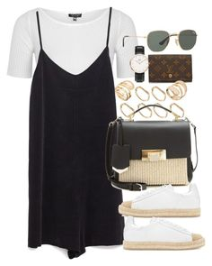 """Untitled #3908"" by lily-tubman ❤ liked on Polyvore featuring Louis Vuitton, ASOS, Topshop, Zara, Balenciaga, Alexander Wang, Daniel Wellington and Ray-Ban"