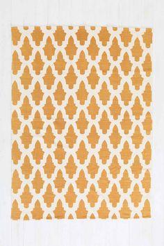 Teppich mit Blütendesign in Orange, 5 x 7