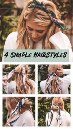 Simple easy hairstyles 5 minute hairstyles Quick hairstyles Hairstyles for lo Hair Tutorials is part of braids - Simple easy hairstyles 5 minute hairstyles Quick hairstyles Hairstyles for long hair 5 Minute Hairstyles, Fast Hairstyles, Scarf Hairstyles, Braided Hairstyles, Quick Easy Hairstyles, Simple Hairstyles For Long Hair, Bandana Hairstyles Short, Easy Long Hairstyles, Big Curls For Long Hair