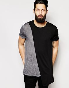 Image 1 of ASOS Super Longline T-Shirt With Double Layer Detail