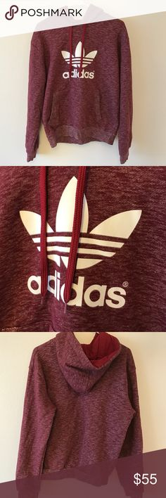 Adidas Hoodie Maroon Adidas sweater, like new condition, never worn. Adidas Tops Sweatshirts & Hoodies