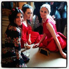 Julia Restoin Roitfeld, Tallulah Harlech and Lauren Santo Domingo.