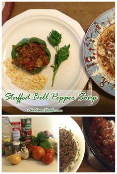 Kids Meal Recipes: Stuffed Bell Pepper Soup #recipes - Madame Deals, Inc.