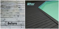 Amazing Pool Deck Transformation with Behr Premium DeckOver. Looks like a whole new deck! #BehrPaint #BehrDIYExpert {from Small Home Big Start}