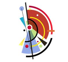 Type inspired in Kandinsky. Abstract Geometric Art, Geometric Shapes, Composition Art, Geometry Art, 3d Max, Wassily Kandinsky, Fantastic Art, Art Plastique, Op Art