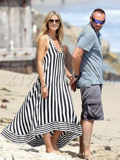 Heidi Klum Martin Kristen Lou Leni stripes pregnant