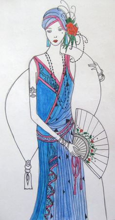 Art Deco Ladies | Art Deco Lady by ~olivialovesmuse on deviantART