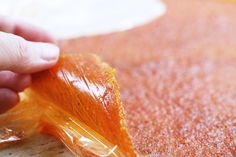 """How to make homemade fruit leather - GOing to try this today with my """"new"""" freecycle dehydrator and the fruit that is falling off my fruit trees. Homemade Fruit Leather, Fruit Leather Recipe, Dehydrator Recipes, Food Processor Recipes, Tapas, Fruit Roll Ups, Food Mills, Fruit Puree, Stone Fruit"""