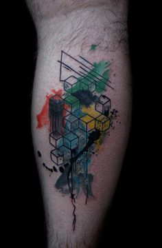 abstract geometric tattoo | Flickr - Photo Sharing!