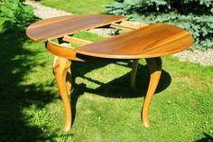 Rzuć Pan Okiem – Odnawianie Mebli Drewnianych » Stół okrągły bursztynowy