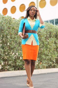 NuSophisticate: Work Wear: Casual Friday Fun - J crew orange skirt