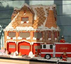 Gingerbread Firehouse | Shared by LION