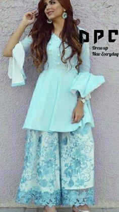 Summer pastels in Indian wear Stylish Dresses, Simple Dresses, Beautiful Dresses, Fashion Dresses, Beautiful Sky, Trendy Outfits, Pakistani Dress Design, Pakistani Outfits, Indian Outfits