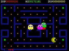 pacman - uno de los juegos de video más populares de los ochenta.