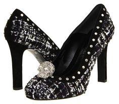tweed & skulls in one great shoe!!