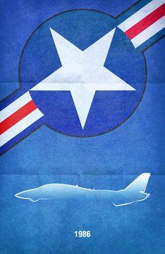 Love this minimalist Top Gun poster design from Boomerjinks on deviantart.