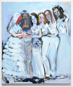 'Ryman's Brides' - 1997 - by Marlene Dumas (South African, b. Marlene Dumas, Figure Painting, Painting & Drawing, South African Artists, Zara, Sculpture, Artist Art, Figurative Art, Art Gallery