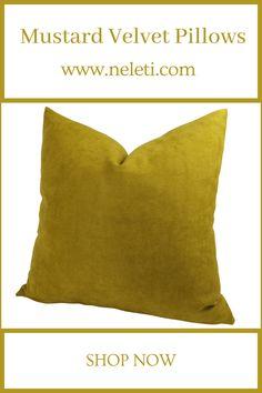 Throw Pillow - Mustard Velvet Pillow Handmade Cushion Covers, Handmade Cushions, Decorative Pillow Covers, Throw Pillow Covers, Throw Pillows, Family Room Decorating, Decorating Ideas, Mustard Cushions, How To Make Pillows