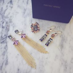 The Lilac Geometric Tassel earrings Gold petal ring & the Mini Geometric Danglers. A great mix in neutral colour accessories that can be thrown on to everything!  Use MKFIRST10 for a 10%off on these  Available on : http://ift.tt/1TkC4lK . International orders : Email us: order@maithilikabre.com / Whatsapp: 91 99208 79425