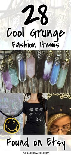 Check out our 28 favorite grunge style items on Etsy! Grunge Beanies, Rings, Chokers, Cool T-Shirts and more! Read the article here: http://ninjacosmico.com/28-cool-grunge-items-etsy/