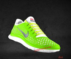 28c97cbc820 Cheapest Womens Nike Free 3.0 V4 Liquid Lime Reflective Silver White  Fluorescent Yellow Lace Shoes White