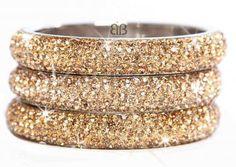 Slim Gold Sparkling Bangle
