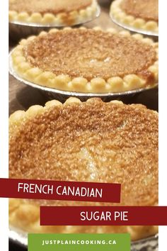 Jan 2020 - My mother-in-law's French Canadian sugar pie recipe - delicious, decadent, but also incredibly easy to make. One of the simpler traditional Canadian desserts, you might already have the ingredients in your pantry to make it. Gourmet Desserts, Easy Desserts, Gourmet Recipes, Delicious Desserts, Yummy Food, Healthy Food, Easy Pie Recipes, Sweet Recipes, Chicken Recipes