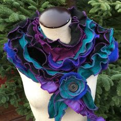 Romantic Ruffled Scarf Stole Collar by danamurphydesigns on Etsy