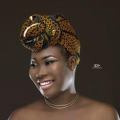 African print hair gear #duku
