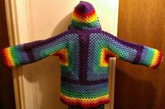 Hexagonal Hooded Cardigan Free Crochet Pattern