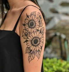 More than 20 elegant ideas sunflower tattoo inspire you to be colored . # # More inspire over 20 elegant ideas sunflower tattoo inspire you to be colored # inked delaware JK Rowling& tale captivated many children teenagers b, marking their lives to . Sunflower Tattoo Sleeve, Sunflower Tattoo Shoulder, Sunflower Tattoos, Baby Tattoos, Body Art Tattoos, Girl Tattoos, Tatoos, Tattoo Art, Realism Tattoo