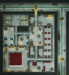 Undercity Sewers urban City Battlemap - Daggerlad Hideout - Sewers by RoninDude