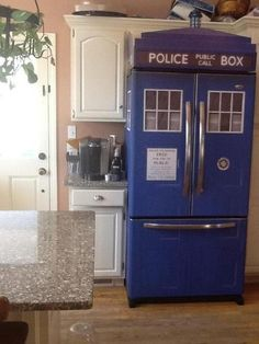 awesome fridge, i wonder if its bigger on the inside