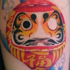 I love the idea of a daruma doll tattoo!
