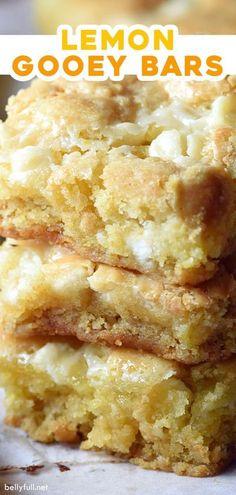 Lemon Desserts, Lemon Recipes, Köstliche Desserts, Baking Recipes, Sweet Recipes, Cookie Recipes, French Desserts, Plated Desserts, Gooey Bars