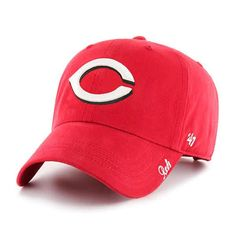4989cdb7fc3bc Cincinnati Reds Women s 47 Brand Red Miata Clean Up Adjustable Hat  Cincinnati Reds Hats