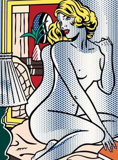 Roy Lichtenstein - Blue nude
