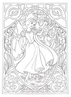 Snow White. Art Nouveau