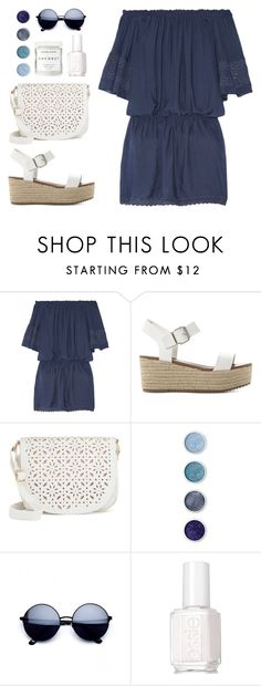 """""""Untitled #800"""" by alissar13 ❤ liked on Polyvore featuring Melissa Odabash, Steve Madden, Under One Sky, Terre Mère, Essie and Herbivore"""