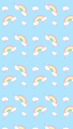 Art, cute illustration, and pattern rainbow image Unicornios Wallpaper, Cute Pastel Wallpaper, Cute Wallpaper For Phone, Rainbow Wallpaper, Cute Patterns Wallpaper, Wallpaper Iphone Disney, Kawaii Wallpaper, Cute Wallpaper Backgrounds, Cute Cartoon Wallpapers