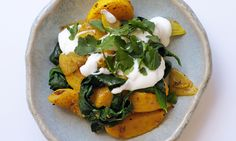A delicious and wholesome succulent vegetarian recipe with a touch of emerald green, from Nigel Slater