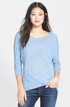 Caslon® Crossover Front Tee (Regular & Petite) available at #Nordstrom